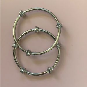 Jewelry - Silver knot bangles (2)